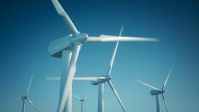 Turbinas de la energía eólica almacen de metraje de vídeo