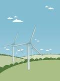 Turbinas de vento ilustração do vetor