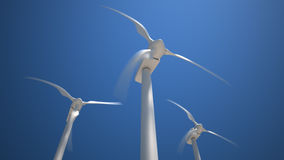 Turbinas de vento, campo amarelo