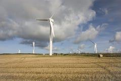 Turbinas de vento, Cornualha Imagens de Stock