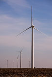 Turbinas de vento em Texas Fotografia de Stock