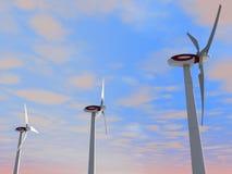Turbinas de vento modernas Fotos de Stock