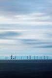 Turbinas de vento no mar Imagem de Stock