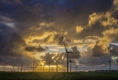 Turbinas de vento novas da energia Foto de Stock Royalty Free