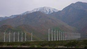 Turbinas de vento Palm Spring Califórnia video estoque