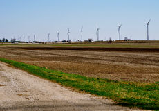 Turbinas de viento Fotografía de archivo