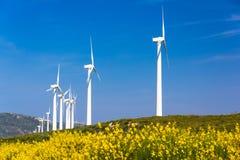 Turbinas de viento Imagen de archivo libre de regalías