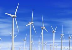 Turbinas de viento stock de ilustración