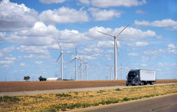 Turbinas de viento americanas Fotos de archivo