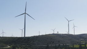 Turbinas de viento, campo amarillo Potencia concept metrajes
