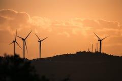 Turbinas de viento de Alacati Fotografía de archivo