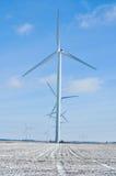 Turbinas de viento de Indiana todas en una fila 2 Foto de archivo libre de regalías
