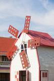 Turbinas de viento de la decoración de la casa Imágenes de archivo libres de regalías
