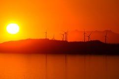Turbinas de viento del grupo Imagenes de archivo