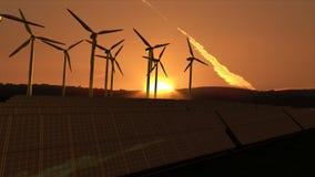 Turbinas de viento en actividad Foto de archivo libre de regalías