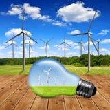 Turbinas de viento en bulbo Foto de archivo