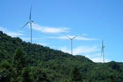 Turbinas de viento en China Foto de archivo libre de regalías
