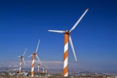 Turbinas de viento en la Golán Fotos de archivo