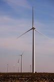 Turbinas de viento en Tejas Fotografía de archivo