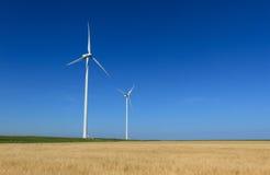 Turbinas de viento modernas Fotografía de archivo libre de regalías