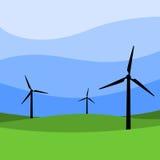 Turbinas de viento - molinoes de viento Imagen de archivo