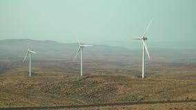 Turbinas de viento, Rolling Hills WA, los E.E.U.U. 4K UHD almacen de video