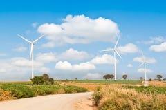 Turbinas eólicas Fotos de Stock Royalty Free