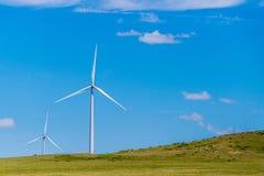 Turbinas eólicas de Kansas Fotos de Stock Royalty Free