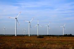 Turbinas eólicas em Bulgária Fotografia de Stock