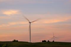 Turbinas eólicas em Iowa Foto de Stock