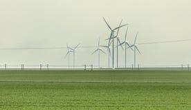 Turbinas eólicas no campo Fotos de Stock Royalty Free