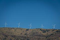 Turbinas eólicas no desfiladeiro do Rio Columbia fotografia de stock royalty free