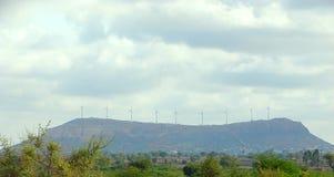 Turbinas eólicas no parque do vento Fotos de Stock Royalty Free