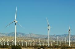 Turbinas eólicas, Palm Springs, Palm Desert Imagem de Stock