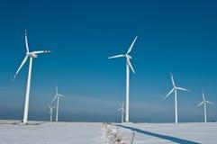 Turbinas e sombra de vento Fotografia de Stock Royalty Free