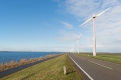 Turbinas eólicas na Holanda Imagens de Stock