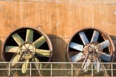 Turbinas industriales obsoletas Fotos de archivo libres de regalías