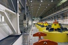 Turbinas y generadores del agua Fotos de archivo libres de regalías