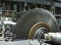 Turbine à vapeur démontée en cours de réparation de générateur à photo libre de droits