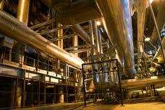 Turbine à vapeur de pipes, de tubes, de machines et  Photo stock