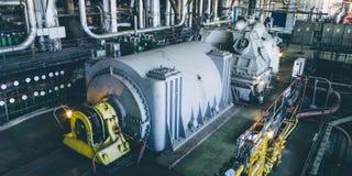 Turbine à vapeur à la centrale photos libres de droits