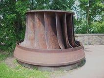 Turbine électrique hydraulique Photo stock