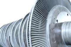 Turbine. Power generator turbine isolated on white Royalty Free Stock Photography