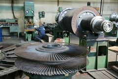 Turbine 2. Works, factory, mill; plant Stock Photography