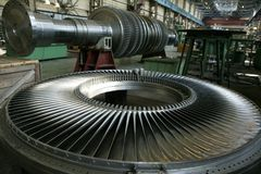 Turbine 3. Works, factory, mill; plant Royalty Free Stock Photo