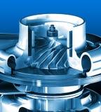 Turbine. Cross section detail of motor. 3D illustration royalty free illustration