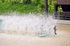 Turbine aeration in water Stock Photo