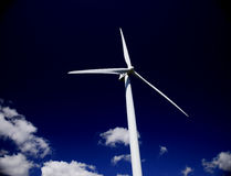 Turbine against black sky Stock Images