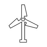 Turbine air energy icon Royalty Free Stock Photos