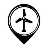 Turbine air energy icon Stock Photo